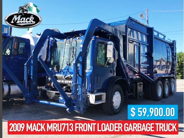2009 MACK MRU713 FRONT LOADER GARBAGE TRUCK - VENTA DE CAMIONES USADOS EN MIAMI